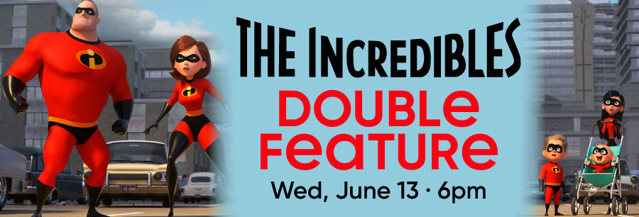 The Incredibles Double Feature Billboard Image