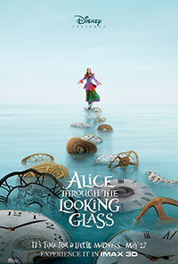 Alice Through the Looking Glass 3D poster