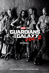 Guardians of the Galaxy Vol. 2 3D poster